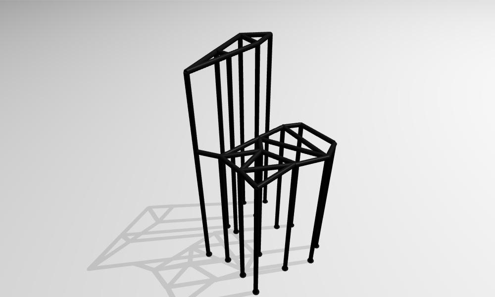 chaise noire comme munari rodolphe dogniaux 39